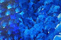 malująca błękitny kanwa Fotografia Stock