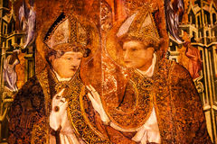 Malująca choru kramu biskupów Barcelona Gocka Katolicka katedra Zdjęcia Stock