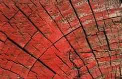 Malująca drewniana blokowa tekstura - czerwień Fotografia Royalty Free