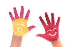 malująca dziecko ręka fotografia royalty free