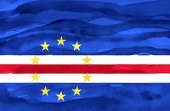 Malująca flaga przylądek Verde zdjęcia stock