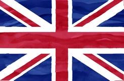 Malująca flaga Zjednoczone Królestwo fotografia stock