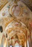 Malująca kopuła w starej Włoskiej willi obrazy stock