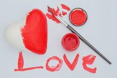 Malująca miłość Obrazy Royalty Free
