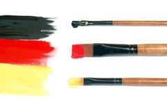 Malująca niemiec flaga Zdjęcia Stock