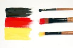 Malująca niemiec flaga Obrazy Stock