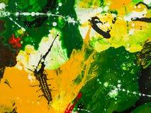 malująca tło abstrakcjonistyczna ręka Fotografia Royalty Free