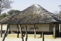 malujący afrykański dom Obrazy Royalty Free