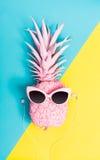 Malujący ananas z okularami przeciwsłonecznymi obraz royalty free