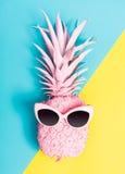 Malujący ananas z okularami przeciwsłonecznymi zdjęcia stock