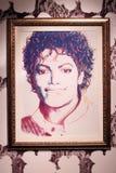 Malujący artystą Andy Warhol Michael Jackson, 1984 ilustracja wektor