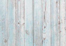 Malujący błękitny i biały stary drewniany tekstury tło obrazy royalty free