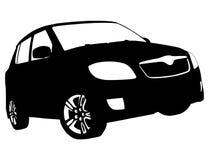 Malujący czarny, biały samochód/ Zdjęcie Stock