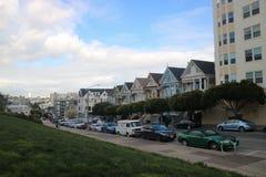 Malujący dama dom w San Francisco obrazy stock