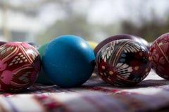 Malujący jajka dla wielkanocy, Ukraińscy Wielkanocni jajka i Wielkanocni jajka o, Zdjęcie Stock