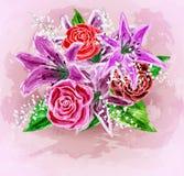 Malujący kwiatu tło ilustracja wektor