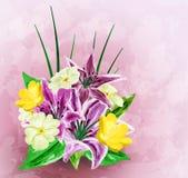 Malujący kwiatu tło ilustracji