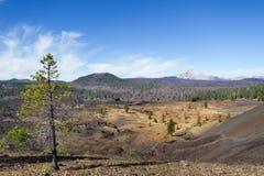 Malujący Lassen szczyt i diuny Zdjęcia Royalty Free