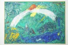 Malujący Marc Chagall, Marc Chagall muzeum, Ładny, Francja zdjęcia royalty free