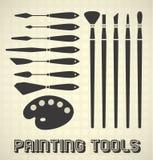 Malujący narzędzia Inkasowych Fotografia Stock