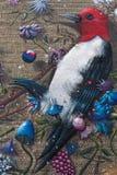 Malujący ptaki na ściana z cegieł Zdjęcie Stock