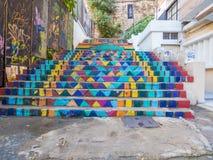MalujÄ…cy schodki, Achrafieh, Bejrut, Liban obraz royalty free