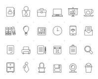 Malujący z liniami Biznesowymi i biurowymi ikonami Obraz Royalty Free