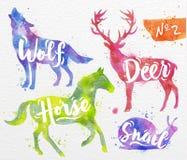 Malujący zwierzęta jeleni ilustracji