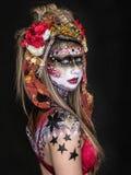 Malująca dziewczyna BB149469-1 Obrazy Stock