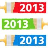 Malująca Liczba 2013 Zdjęcie Stock