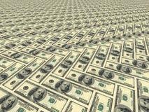 malującej powierzchni dolarów Zdjęcia Stock