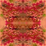 Malujący akwarela wzór Fotografia Royalty Free