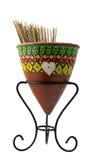 Malujący ceramiczny zbiornik Obrazy Royalty Free