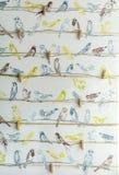 Malujący Clothespins i ptaki Obraz Royalty Free