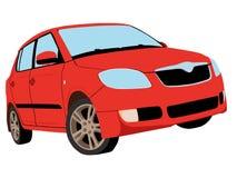 Malujący czerwony samochód 2 Zdjęcie Stock