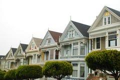 Malujący dama domy w San Fransisco Zdjęcia Stock