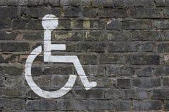 Malujący Disabler znak Zdjęcia Royalty Free