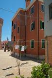 Malujący domycie i domy Zdjęcie Stock