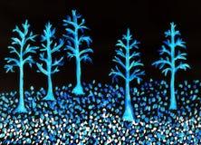 Malujący drzewa Zdjęcia Stock