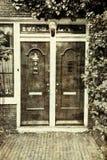 Malujący drzwi w Amsterdam Obrazy Royalty Free