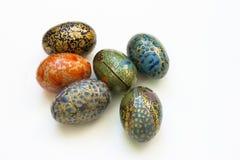 Malujący Easter jajek przygotowania. Obrazy Stock