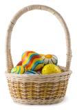 malujący koszykowi jajka Obraz Royalty Free