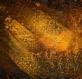 malujący olejem na kanwie, maluje Obraz Royalty Free