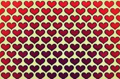 Malujący serca Obraz Stock