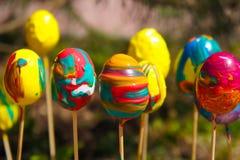 Malujący Wielkanocni jajka (2) Obraz Royalty Free