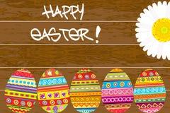 Malujący Wielkanocni jajka na drewnianym tle Zdjęcie Royalty Free