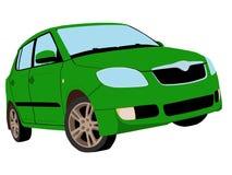 Malujący zielony samochód Obraz Royalty Free