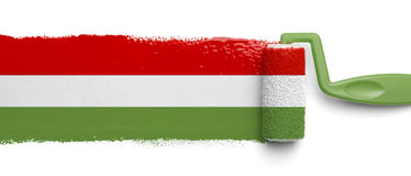 Malująca Meksykańska flaga Zdjęcie Royalty Free