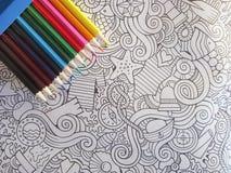 Maluje żadny stresu colorfull Zdjęcia Stock