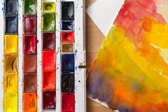 maluje akwarelę obrazy stock